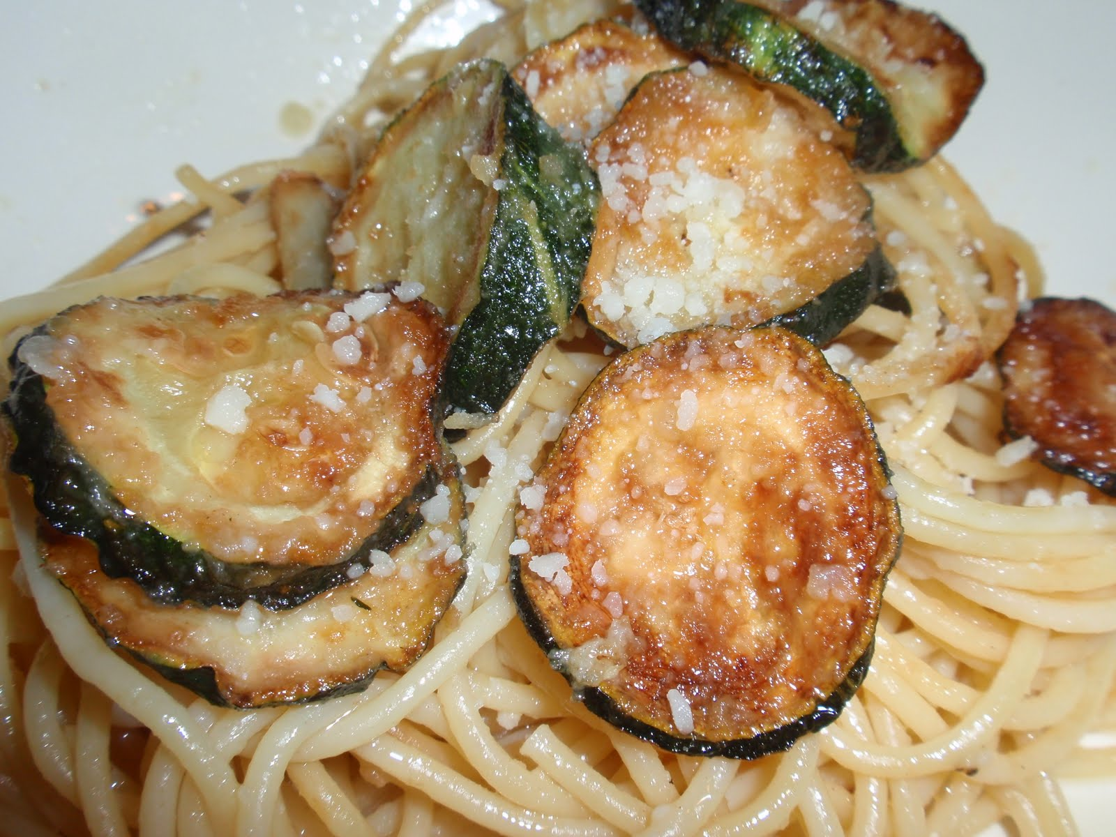 Friied Zucchini Sphagetti